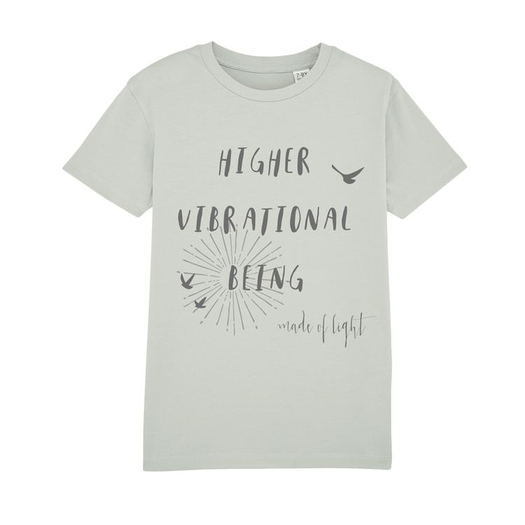 Ekologisk t-shirt 'Higher Vibrational Being' i opaline