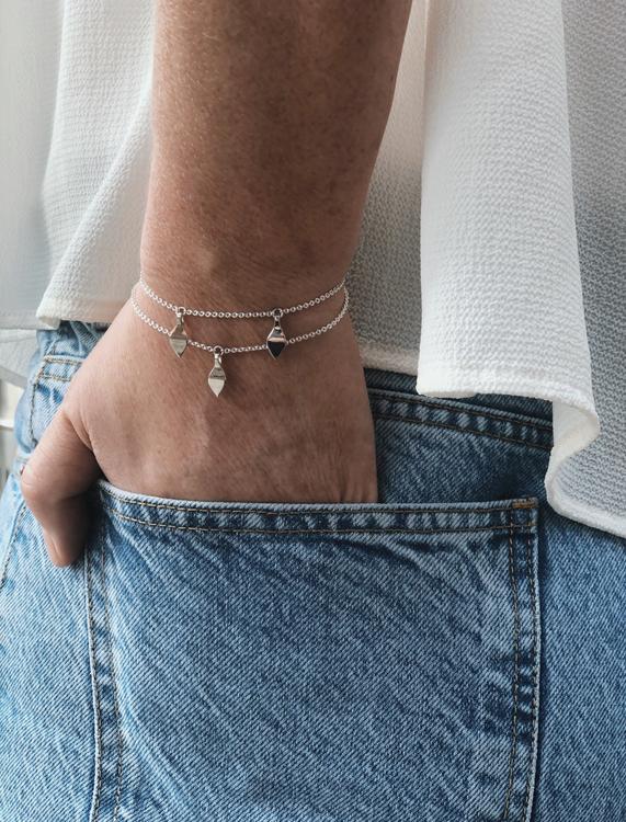 Mini Seed Bracelet silver