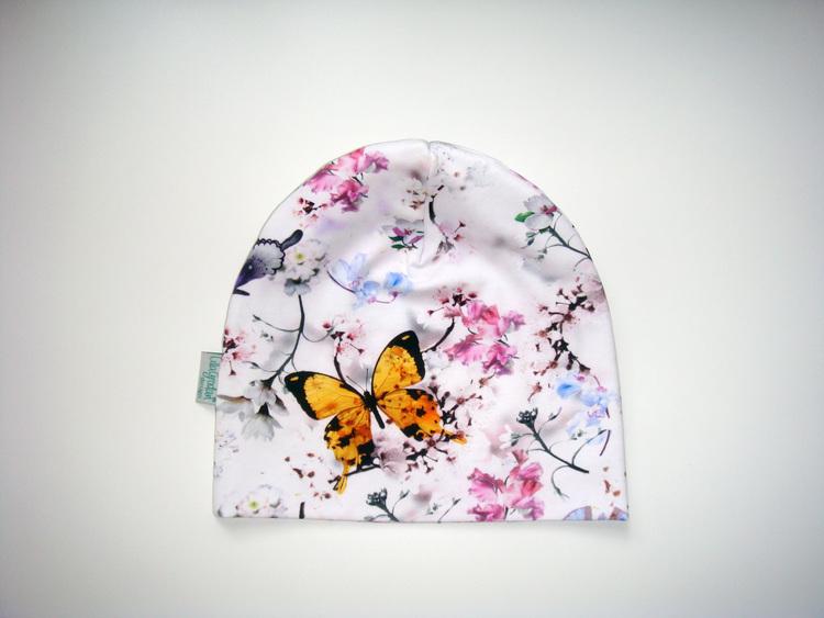 Fjärilar Vit - Mössa