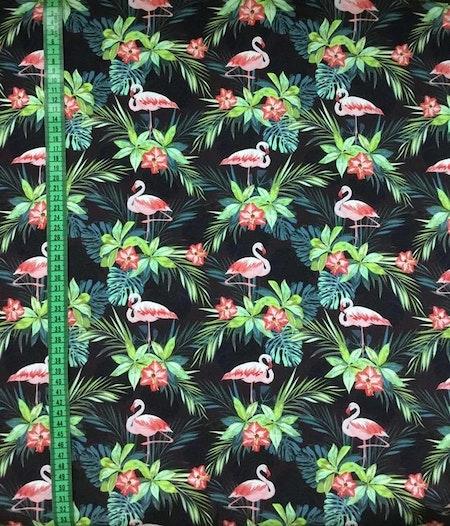 Tyg med flamingos