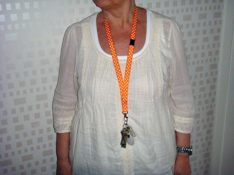 PolkaPrick Orange #NB5 - Nyckelband