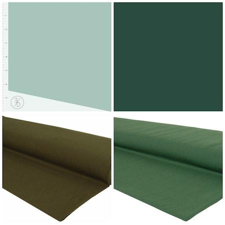 Färgcollage Enfärgat Grönt - Mepstyg