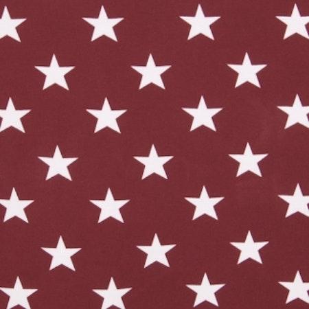 Tygbild, tyg till Meps - Stjärna Vinröd #ME308
