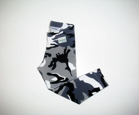 Leggings i Camo, Grå, Ökotex #L461