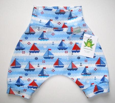 Baggyshorts - Segelbåtar, Blå #BS457, ökotex