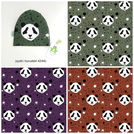 Splat! Panda - färgcollage, Ekotyg/GOTS