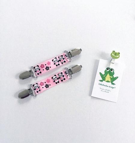 Rosa Vanthållare med Panda-mönster