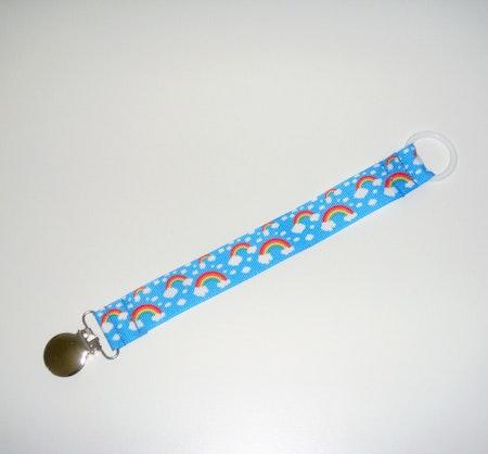 Napphållare med RegnbågsMoln, Blå #N79