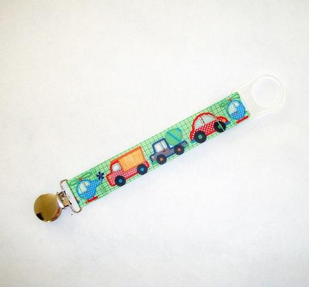 Napphållare med bilmönstrat band - Rutiga Fordon #N80