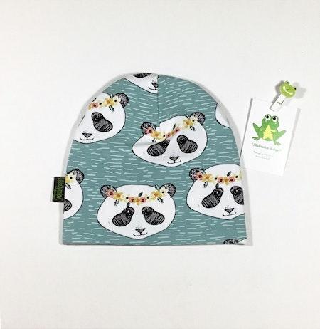 mössa - Panda Flora, Aqua, ekologisk trikå/GOTS