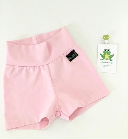 Shorts med korta ben i Ljusrosa trikå