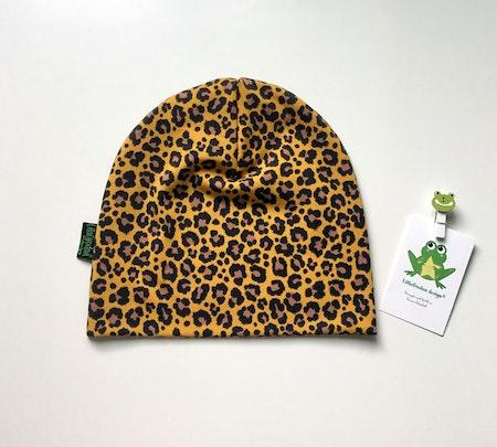 mössa - Leopard Senap, ökotexmärkt trikå