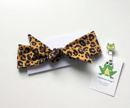 Knythårband - Leopard Senap