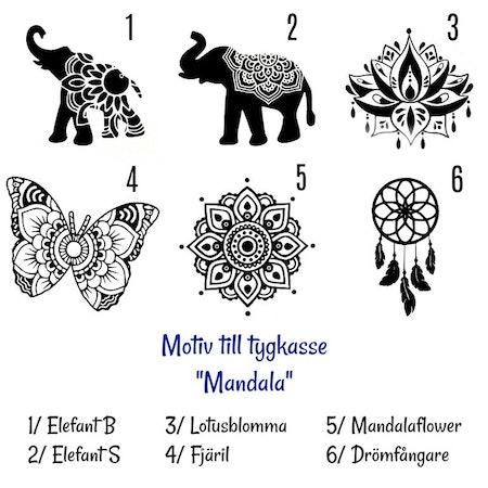 Motiv tygkasse Mandala