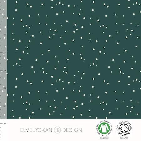 Tygbild, tyg till mössa - Dotty Spots Grön, #570, ekologisk trikå/Gots