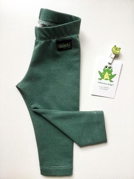 leggings - Confetti grön, ekologisk collegetrikå