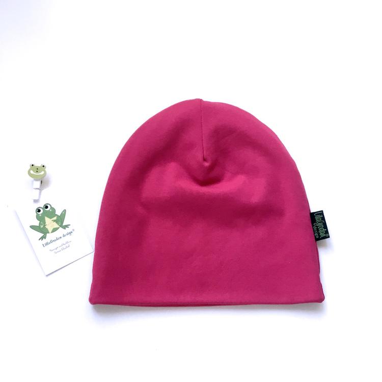 Enfärgat Fuchsia - Mössa