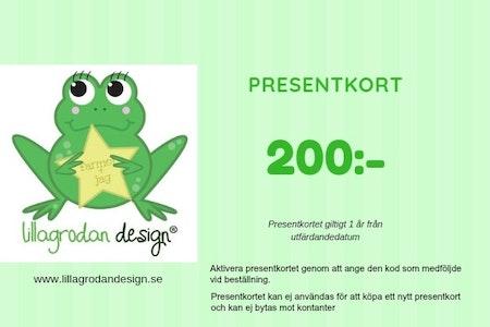 Presentkort LillaGrodan design - valör 200 kr