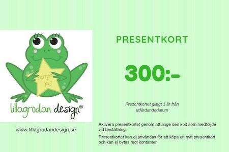 Presentkort LillaGrodan design - valör 300 kr