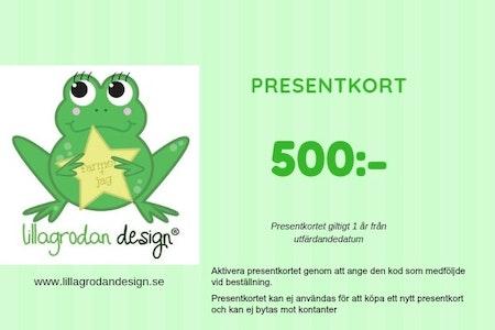 Presentkort LillaGrodan design - valör 500 kr