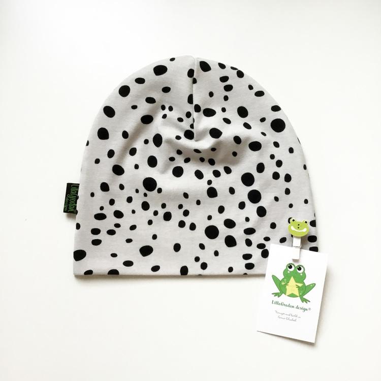 Leopard Dots, Gråbeige - Mössa