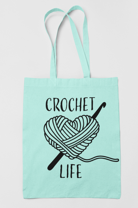 Tygkasse Crochet Life, pepparmint