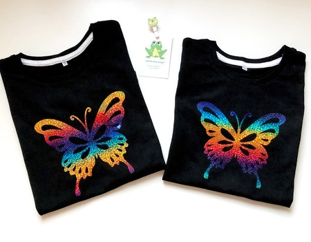 Svart t-shirt med motiv nr 4, vinyl Multi Skimmer - syskonmatchning