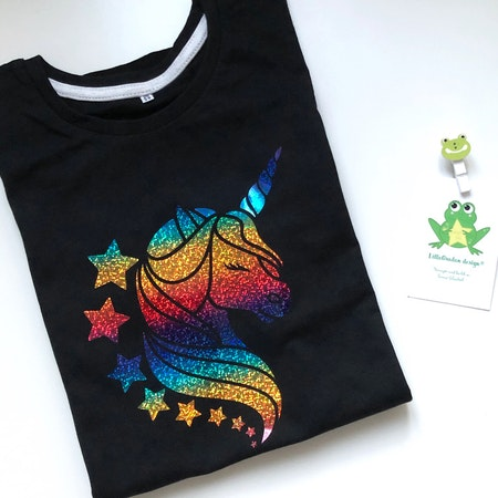 Svart t-shirt med motiv nr 2, vinyl Multi Skimmer