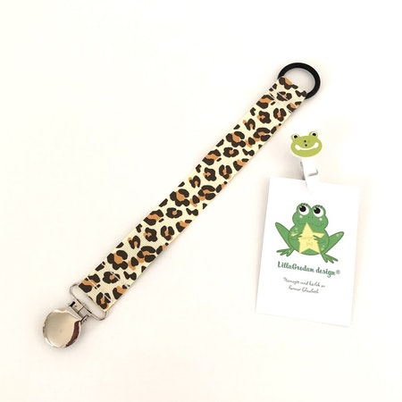 Napphållare - Leopard Gul #N28, svart silikonring