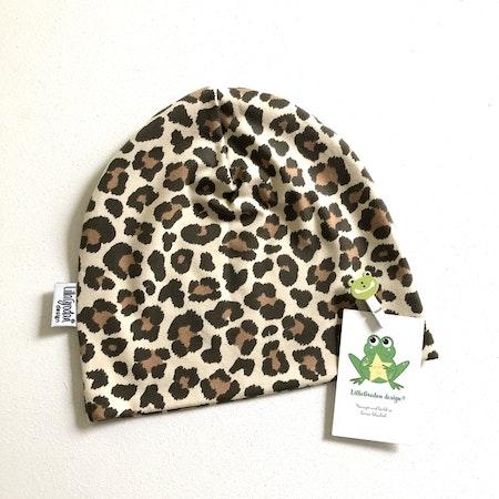 Baggymössa, tyg Leopard Beige, storlek 50/52