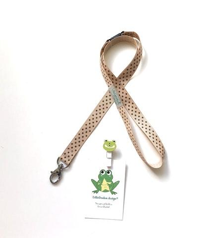 nyckelband - PolkaPrick, Nougat/Brun #NB13