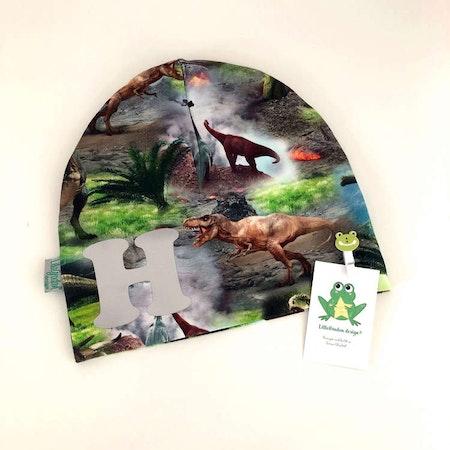 Bokstavsmössa - Dinosaurier med med reflexvinyl