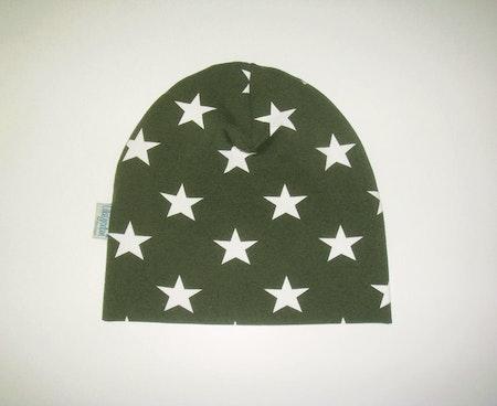 Mössa - Stjärna Olivgrön