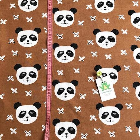 Tyg till baggymössa - Panda X, Nougat #623