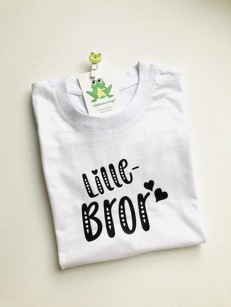 T-shirt Lillebror, vit med svart vinyl