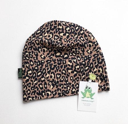 Mössa Leopard Nougat #627C-L, huvudmått 54/56