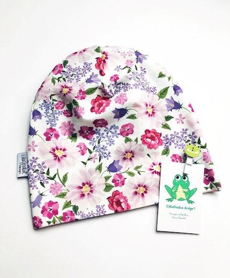 baggymössa - Blomster Wilma, rosa #627, huvudstrl 50/52