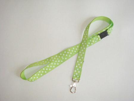 PolkaPrick Äppelgrön #NB4 - Nyckelband