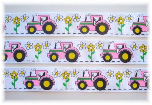Traktorer - Flower, Vit #N129 - Napphållare
