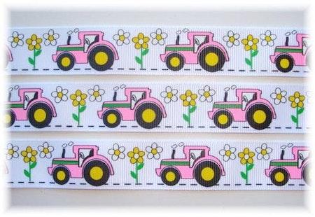 Napphållare med Traktorer - Flower, Vit #N129