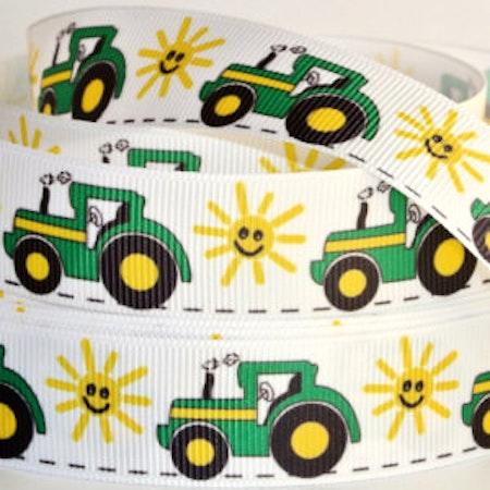 Napphållare med Traktorer - Sol, Vit #N132
