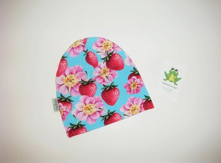 Jordgubbar/Blommor Turkos - Mössa