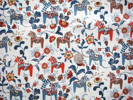 Solhatt/Beppehatt med dalahästar - Dalarna, Blå #S40