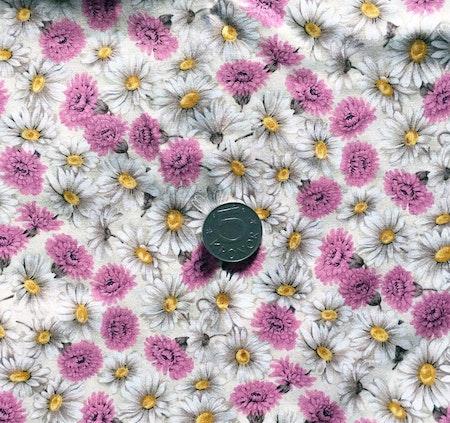 Solhatt/Beppehatt med blommotiv - Klöverblomma #S36