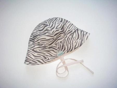 Solhatt med zebramönster - Zebra, Beige/Grå #S58