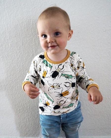 Tshirt - Insekter Creme, livebild