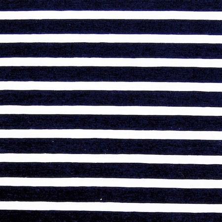 Tygbild, tyg till Baggymössa - Ränder, Marinblå - Meps #ME487