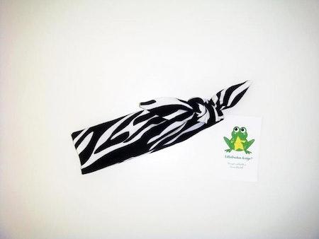 Knythårband - Zebra, ökotex #KB164