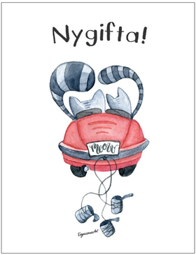 GRATTISKORT - NYGIFTA KATTER