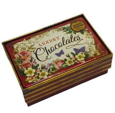 Nostalgisk ask för lyxig choklad